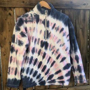 VICTORIA SECRET PINK Tie Dye 1/4zip sweater small